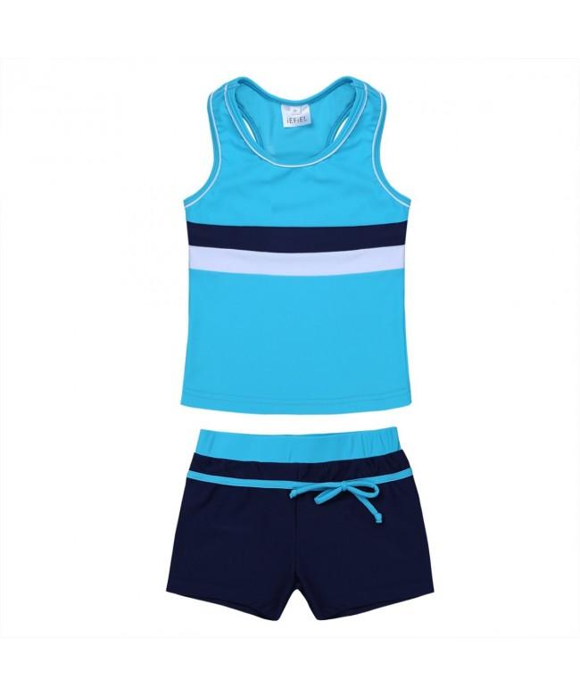 iEFiEL Boyshort Tankini Swimsuit Swimwear