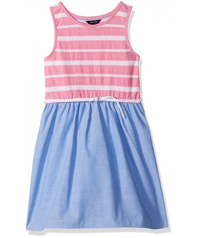 Nautica Girls Novelty Stripe Chambray