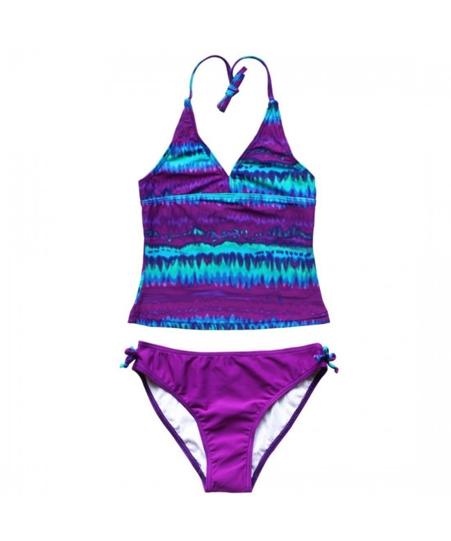 YiZYiF Tie Dye Swimwear Tankini Bathing
