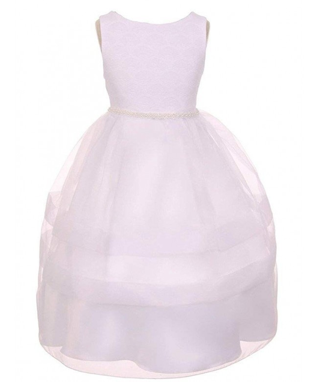 iGirlDress Organza Overlay Communion Flower