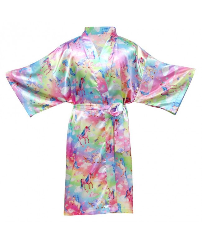 QtGirl Unicorn Bathrobe Sleepwear Birthday
