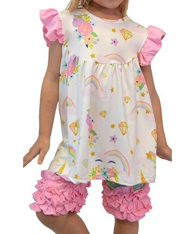 Toddler Pieces Unicorn Ruffle Outfit