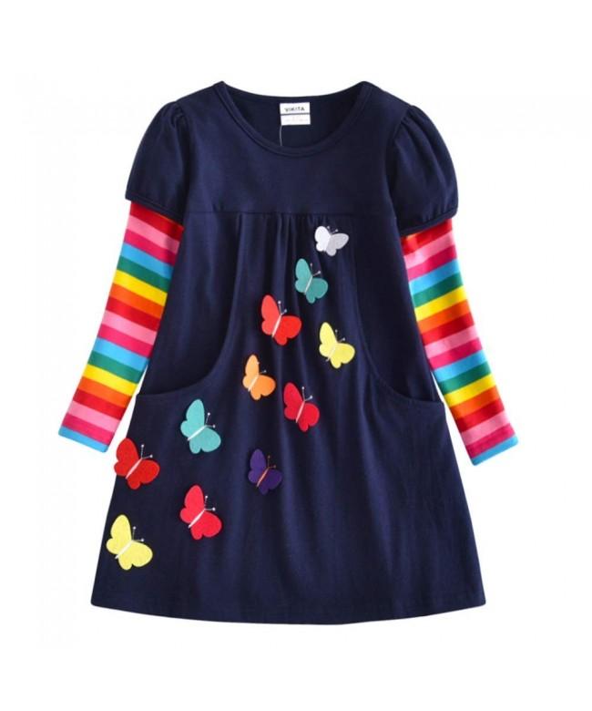 VIKITA Winter Toddler Clothes Dresses