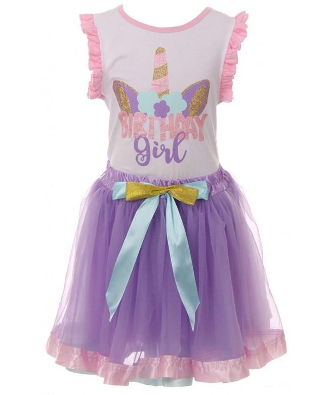 Little Girls Unicorns Baseball T Shirt