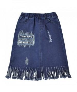 AIMBAR Fashion Elastic Washed Tassels
