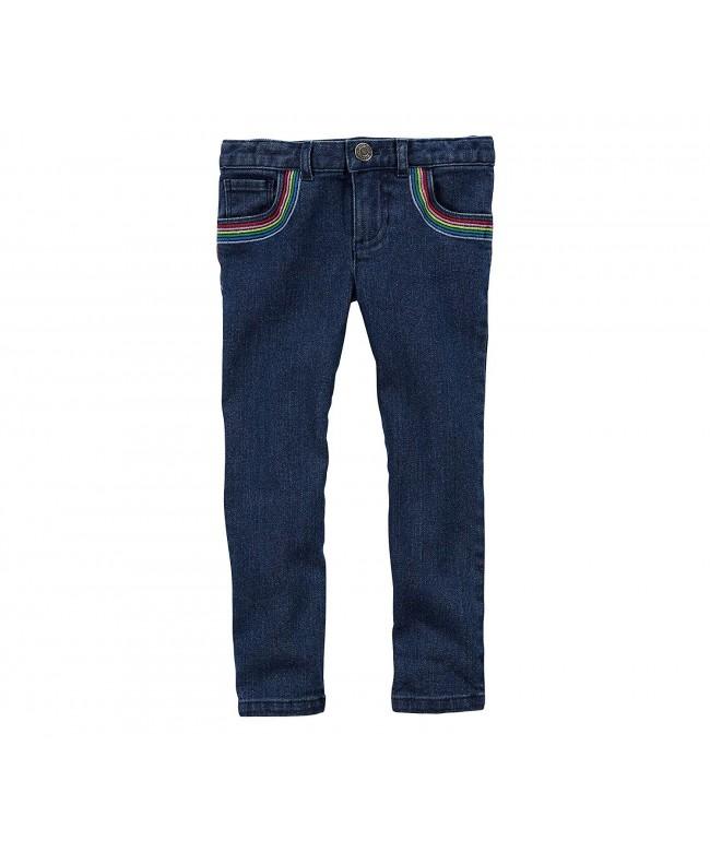 Carters Girls Jeggings Rainbow Pockets