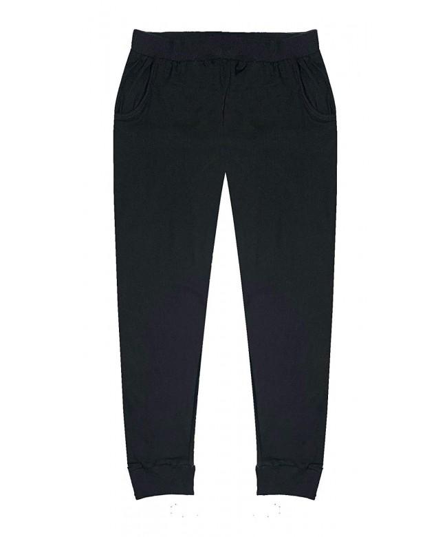 Popular Girls Solid Jogger Pockets