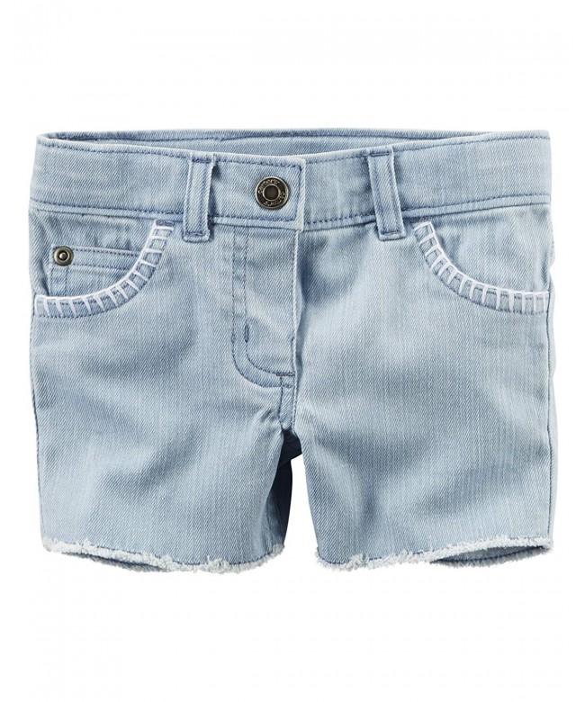 Carters Girls Cut Off Light Shorts