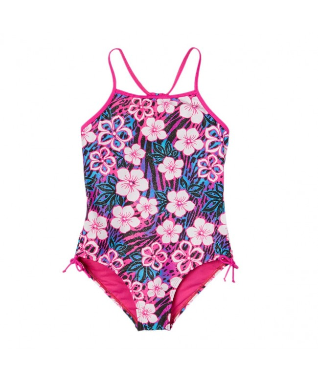 Breaking Waves Girls Tropical Swimsuit