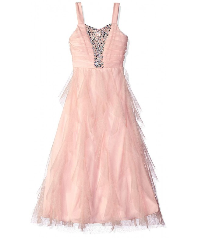 Speechless Girls Waterfall Tulle Dress