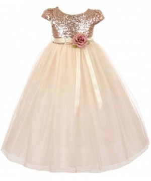 Dreamer Sleeve Sequin Bodice Pageant