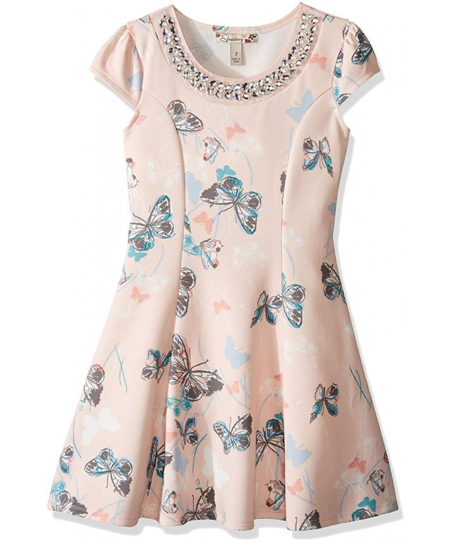 Speechless Girls Printed Scuba Butterfly