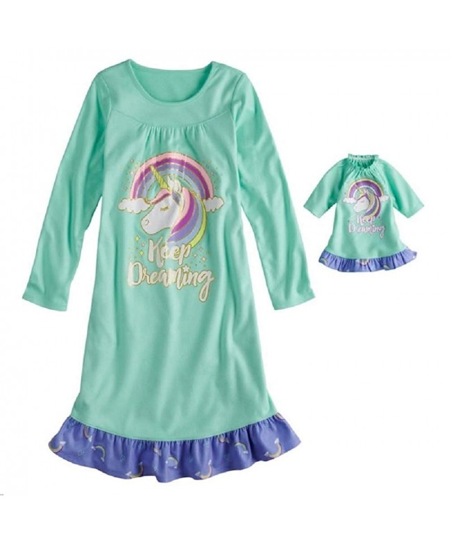 Unicorn Keep Dreaming Ruffled Nightgown