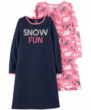 Carters Little Girls 2 Pack Nightgowns
