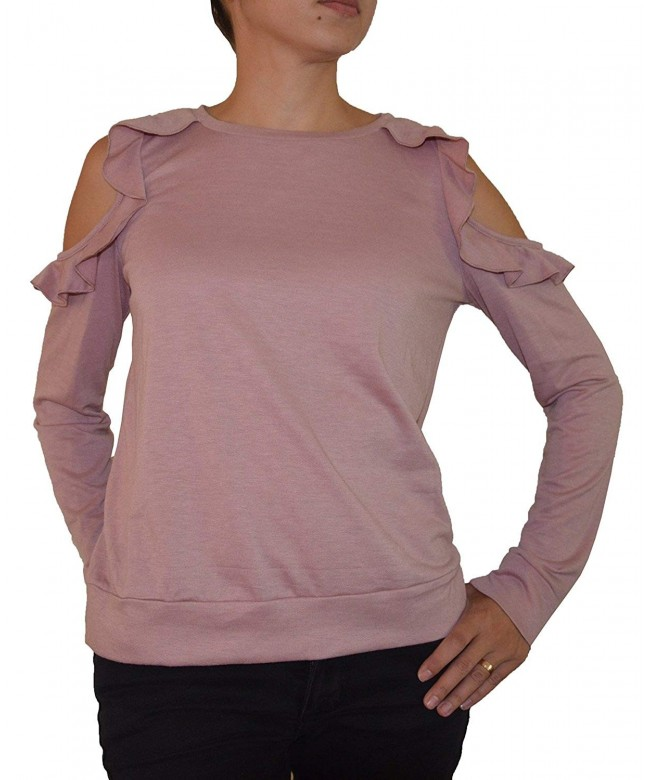 Self E Juniors Cold Shoulder Sweatshirt