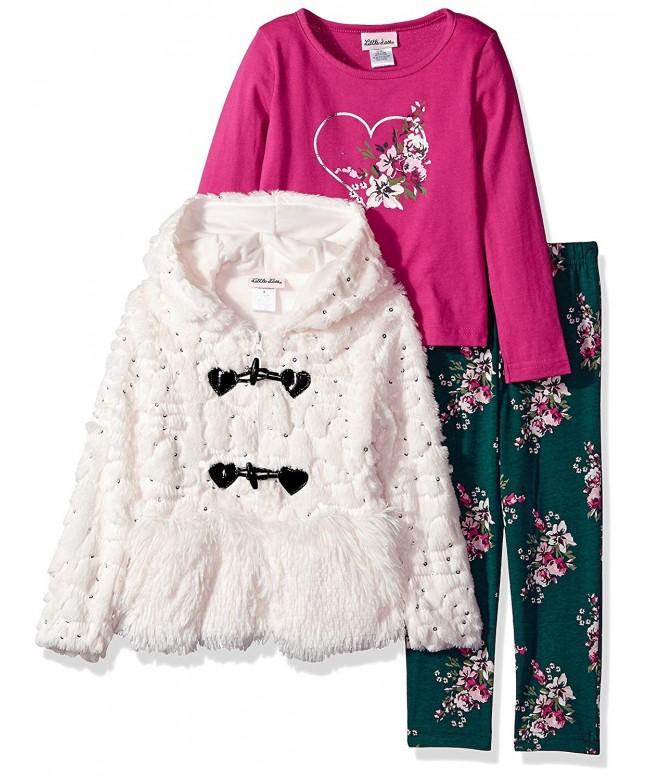 Little Lass Sequin Fur Jacket