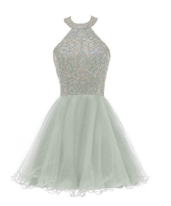 Short Homecoming Dresses Appliques Beaded