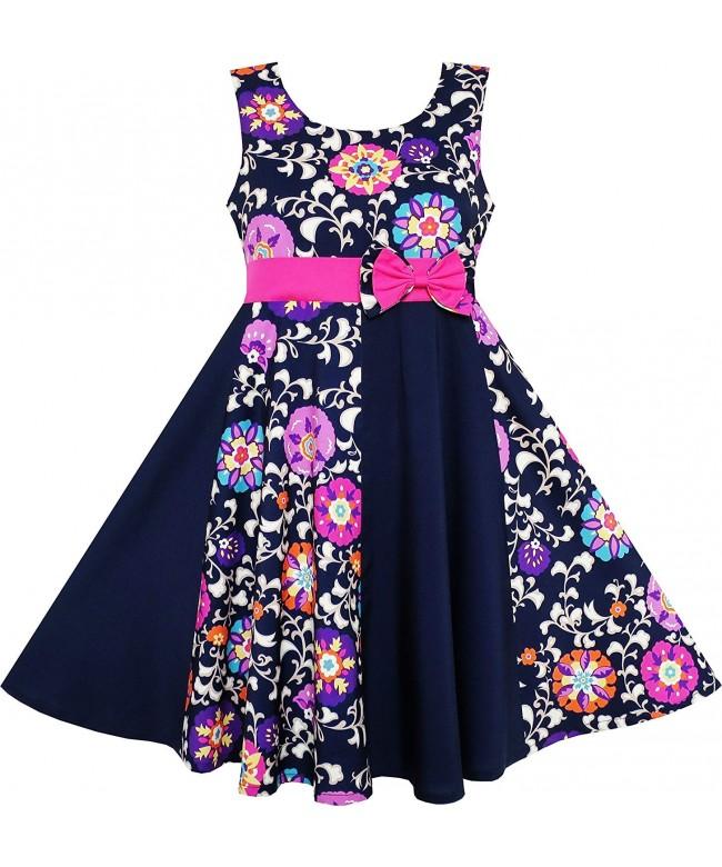 Sunny Fashion Asymmetric Flower Sleeveless