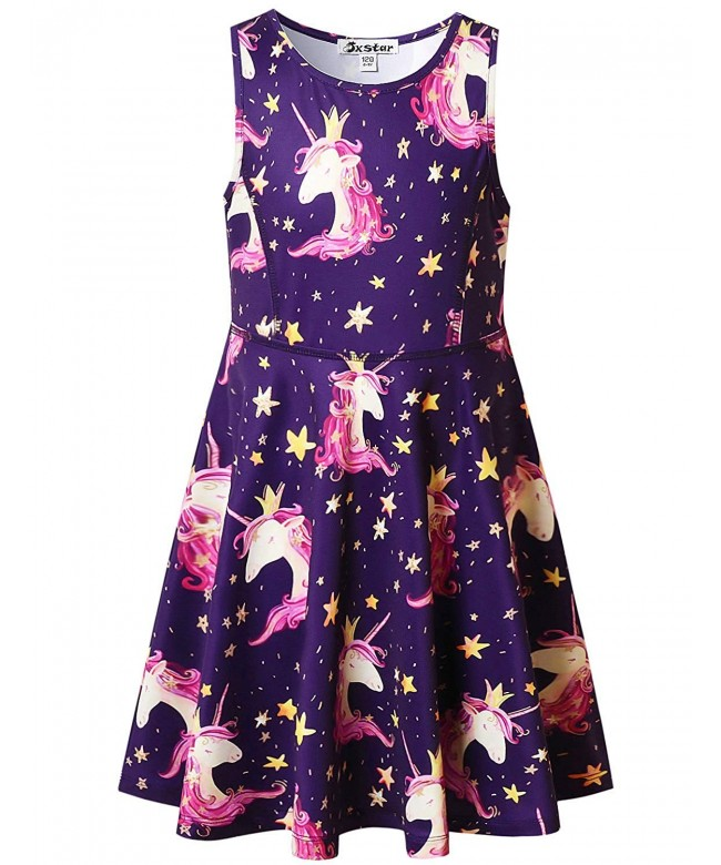 Unicorn Dresses Sleeveless Summer Clothes