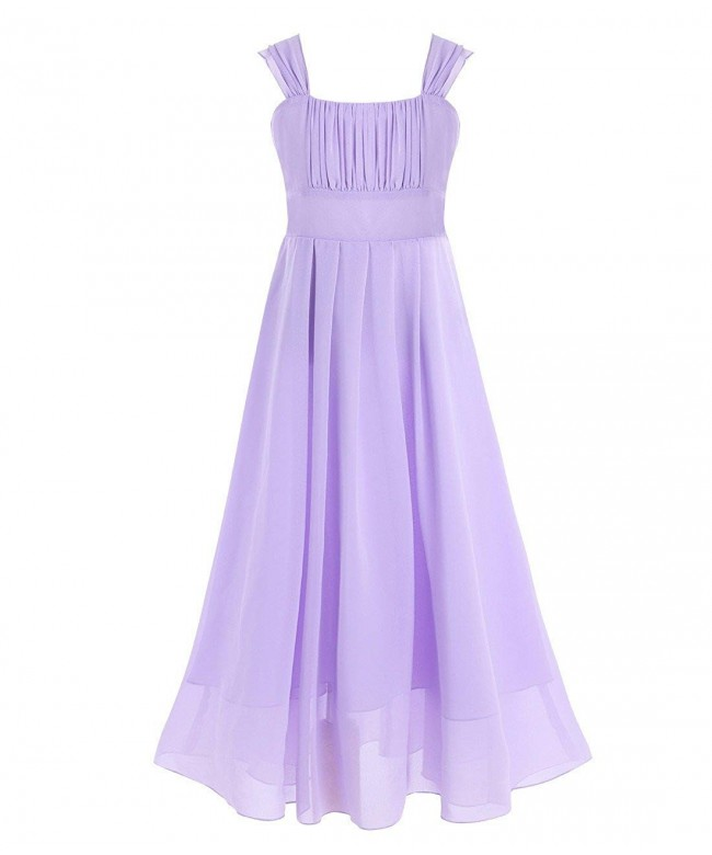 iEFiEL Wedding Chiffon Junior Bridesmaid
