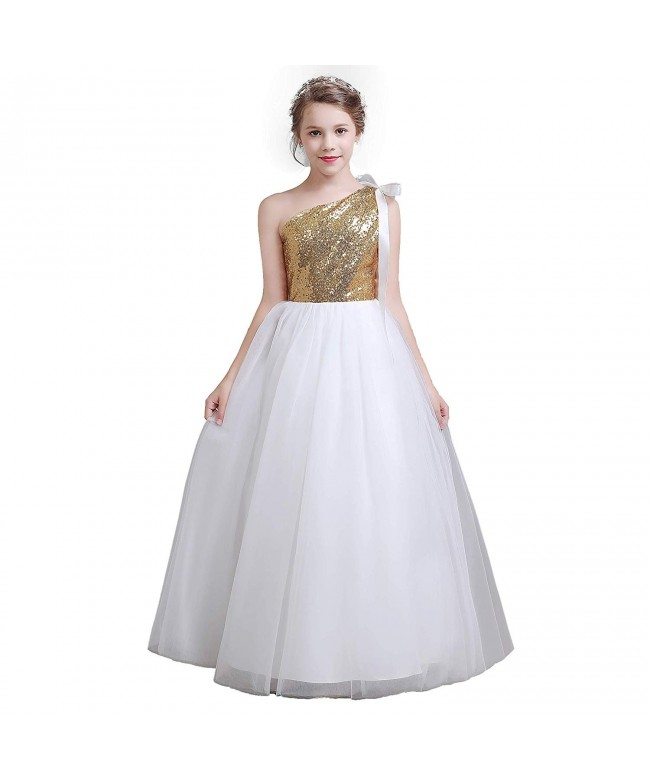 fairy Girl Bridesmaid Dresses Sequines