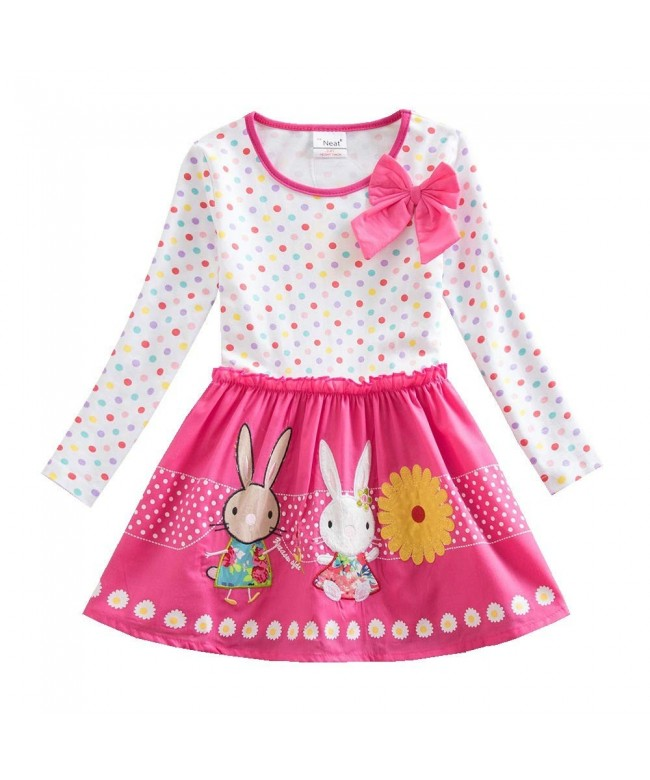 JUXINSU Toddler Cotton Flower Cartoon