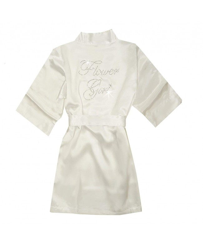 Rhinestone Satin Flower Girl Robe