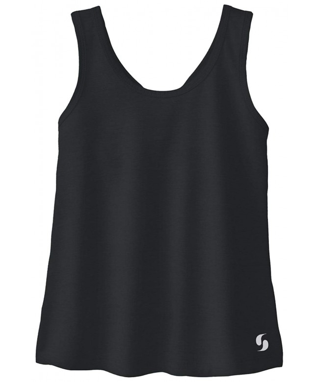 Soffe Girls Knotted Racerback Tank