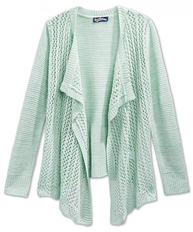 Takeout Girls Drape Front Cardigan Sweater