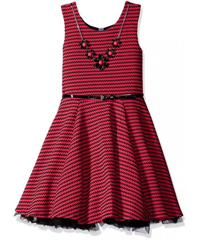Beautees L62902702K Girls Skater Dress