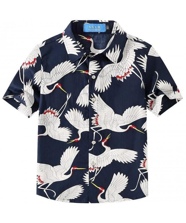 SSLR Cranes Sleeve Casual Hawaiian