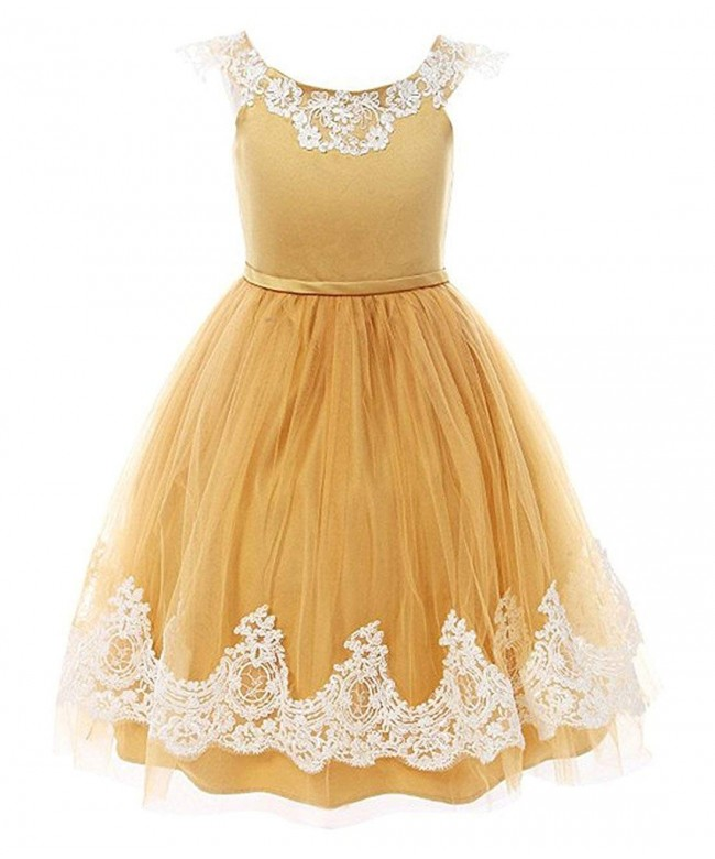 Funtrees Dresses Pageant Straps Flower