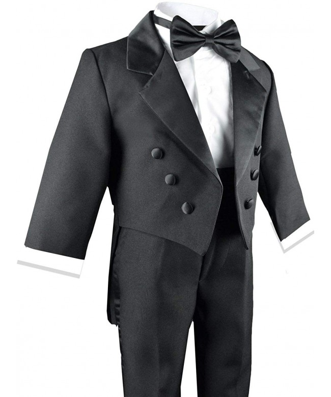 Boys Black Tuxedo Tail Outfit