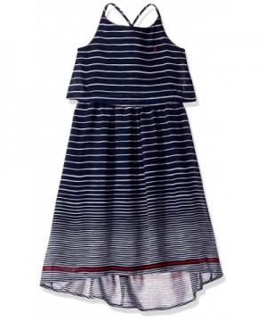Nautica Girls Stripe Chiffon Dress