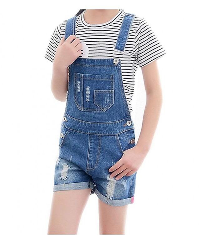 Cotton Jumpsuit Ripped Romper Shortalls