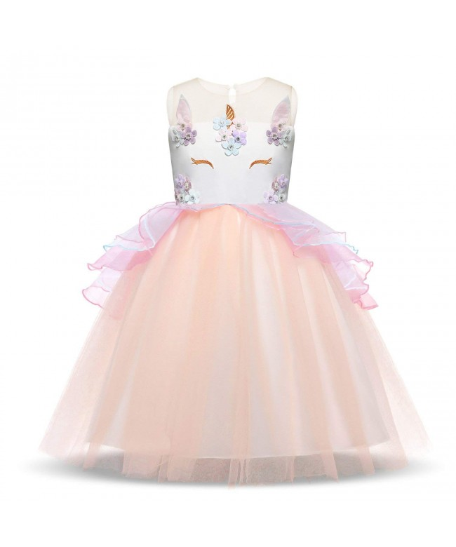 HUANQIUE Girls Pageant Birthday Dresses