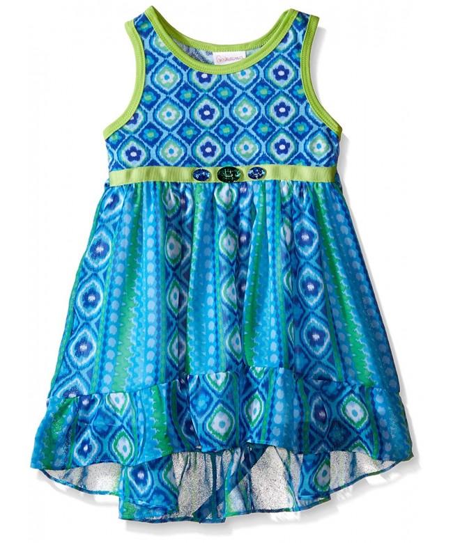 Youngland Girls Printed Chiffon Dress