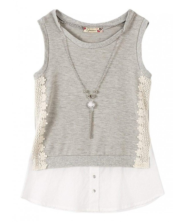 Speechless Girls Shirt Front Necklace