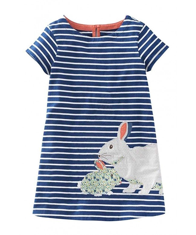 Fiream Toddler Cotton Sleeves Dresses