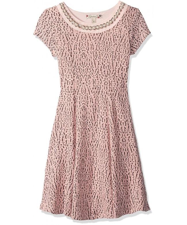 Speechless Girls Textured Embellished Dress