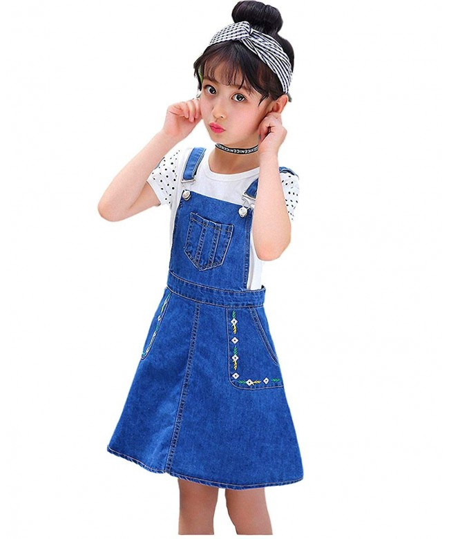 Kidscool Girls Flowers Summer Overalls