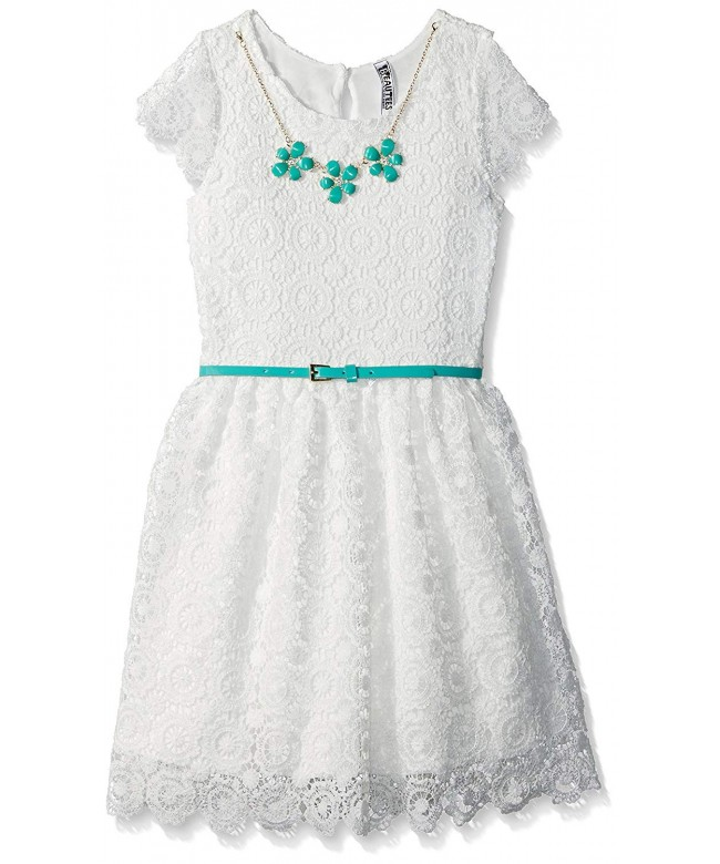 Beautees Girls Lined Lace Dress