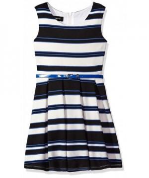 Amy Byer Girls Stripe Pleated