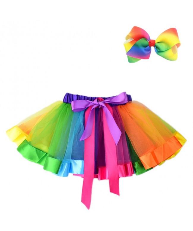 JiaDuo Girls Layered Rainbow Colorful