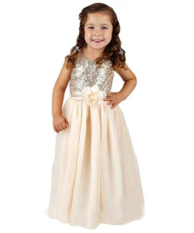 Bow Dream Flower Girls Sequins