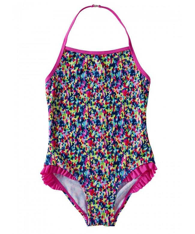 Aleumdr Ruffles Bathing Halter Swimsuit