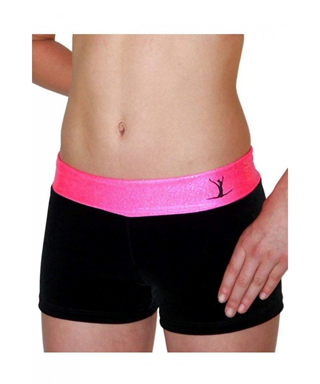 Hot Pink Black Hipster Shorts