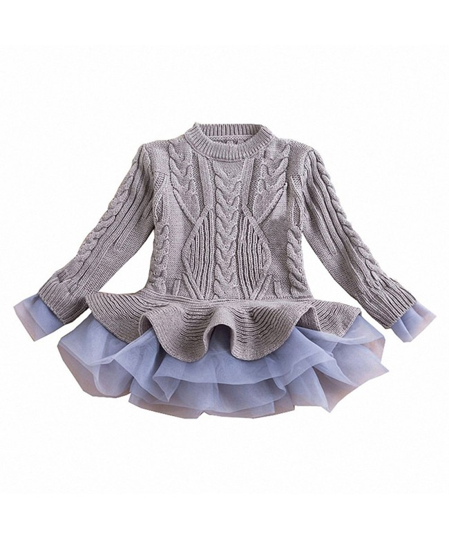 WEONEDREAM Girl Winter Sweater Dress