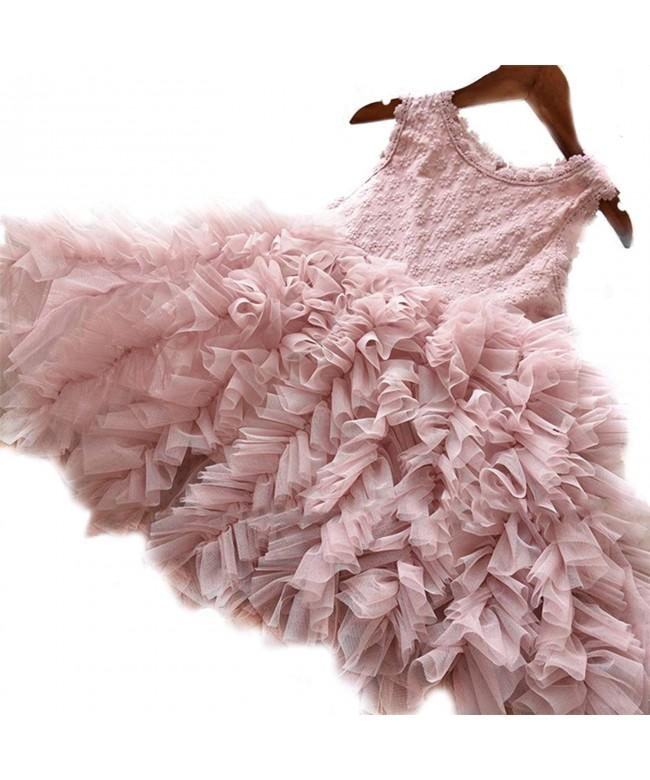 NNJXD Sleeveless Pageant Princess Ruffles