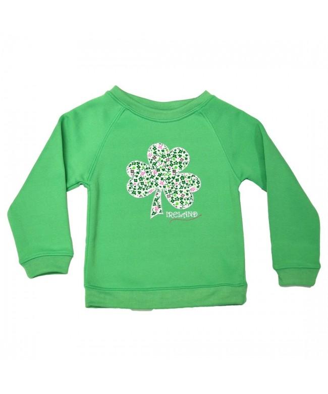 Ireland Green Floral Shamrock Sweatshirt